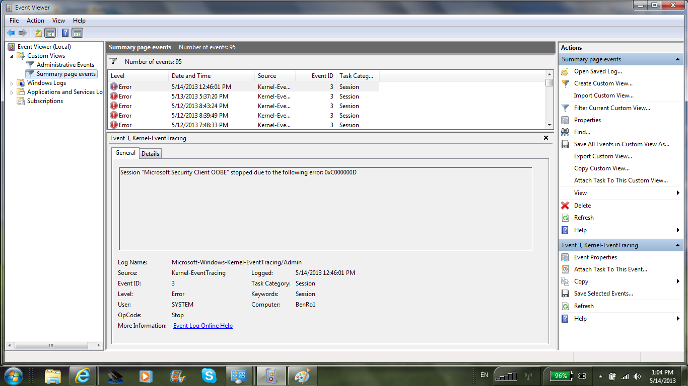 Click image for larger version  Name:Event Viewer_5.14.13.png Views:209 Size:214.0 KB ID:125113