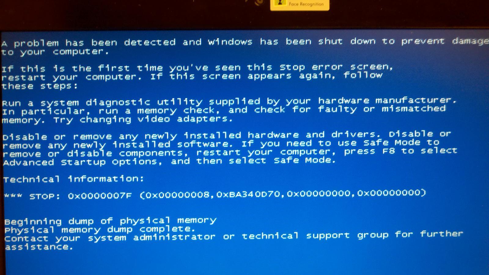 Windows Blue Screen of Death Windows 7 Blue Screen of Death.jpg