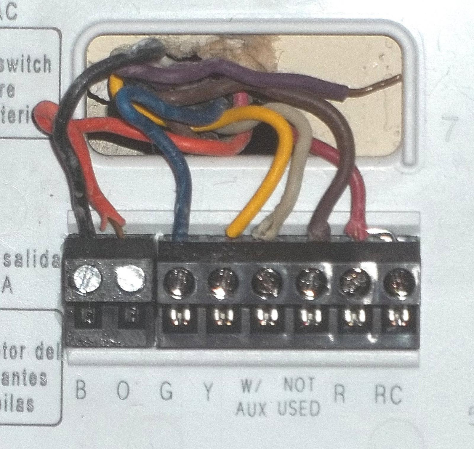 Thermostat wiring help - Tech Support Forum