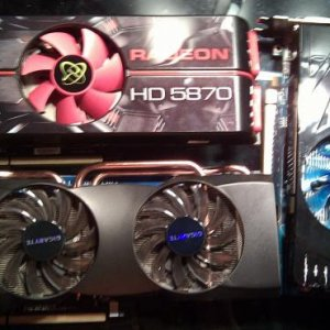 Graphic's cards :grin:  XFX 5870, Gigabyte 5870, HIS 5770